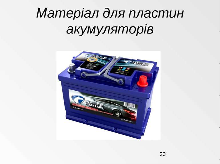Матеріал для пластин акумуляторів