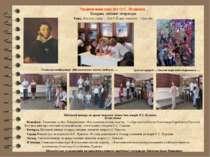Ушанування пам'яті О.С. Пушкіна Тиждень світової літератури Тема. Високе слов...