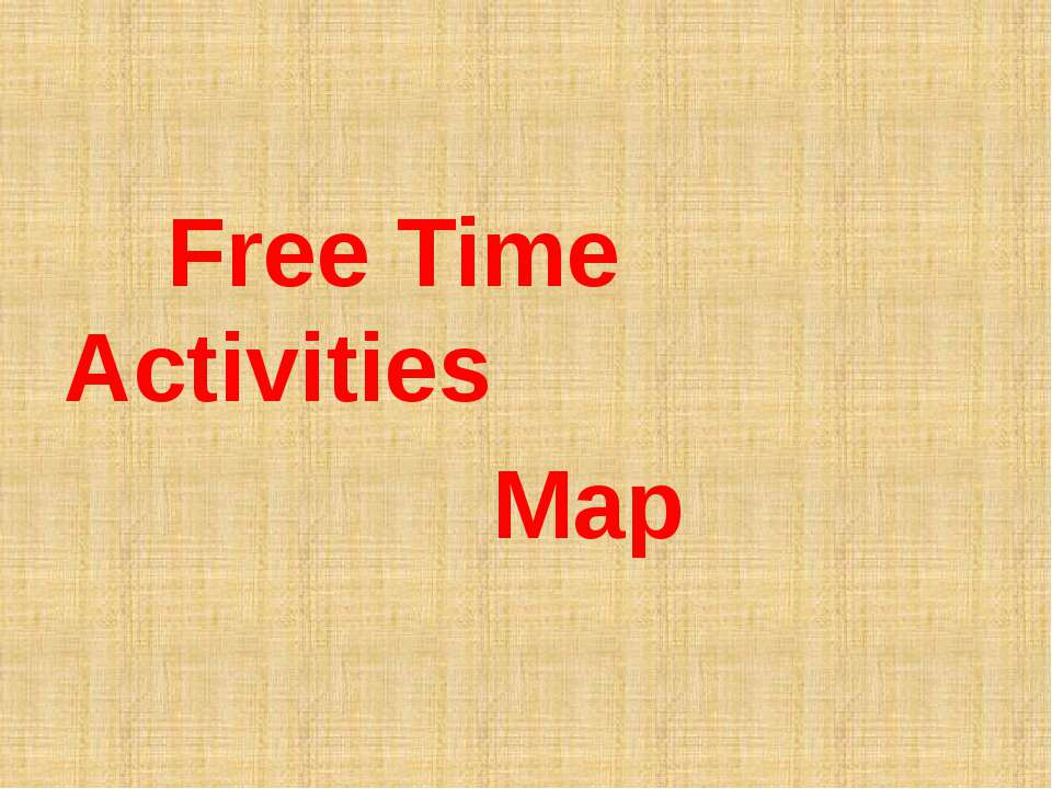 Free Time Activities Map