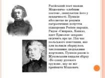 Російський поет назвав Міцкевича «злобним поетом», звинуватив його у невдячно...