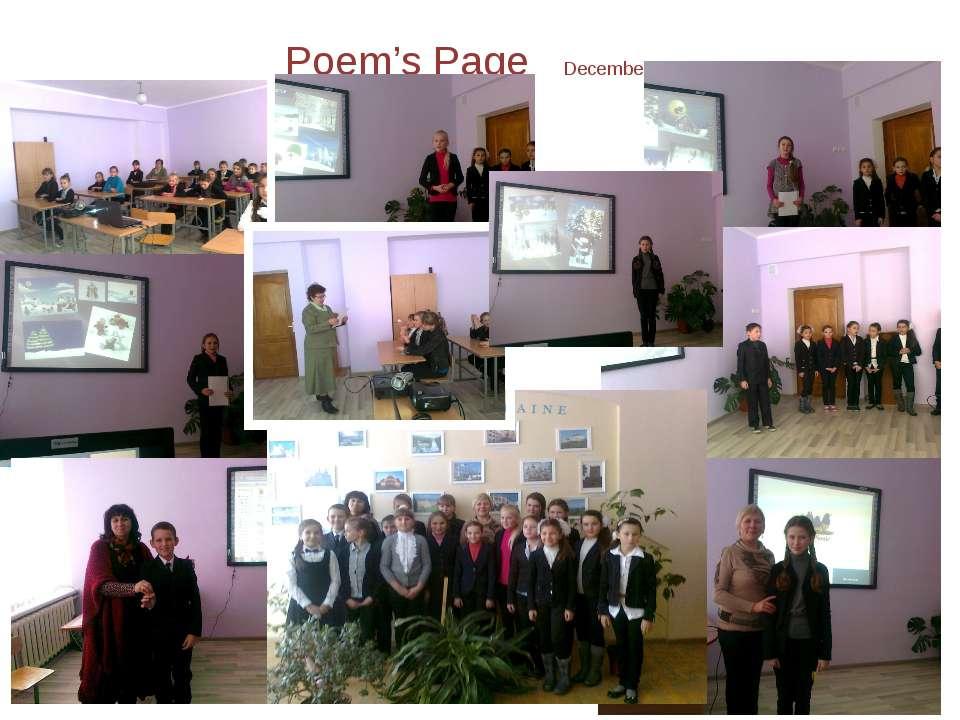 Poem's Page December,25