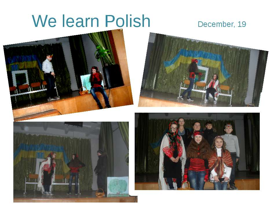 We learn Polish December, 19