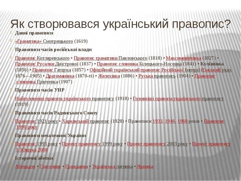 Як створювався український правопис? Давні правописи «Граматика» Смотрицького...