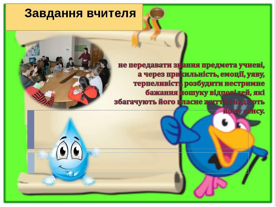 Завдання вчителя