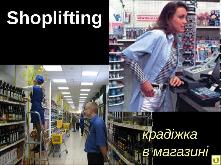 Shoplifting крадіжка в магазині