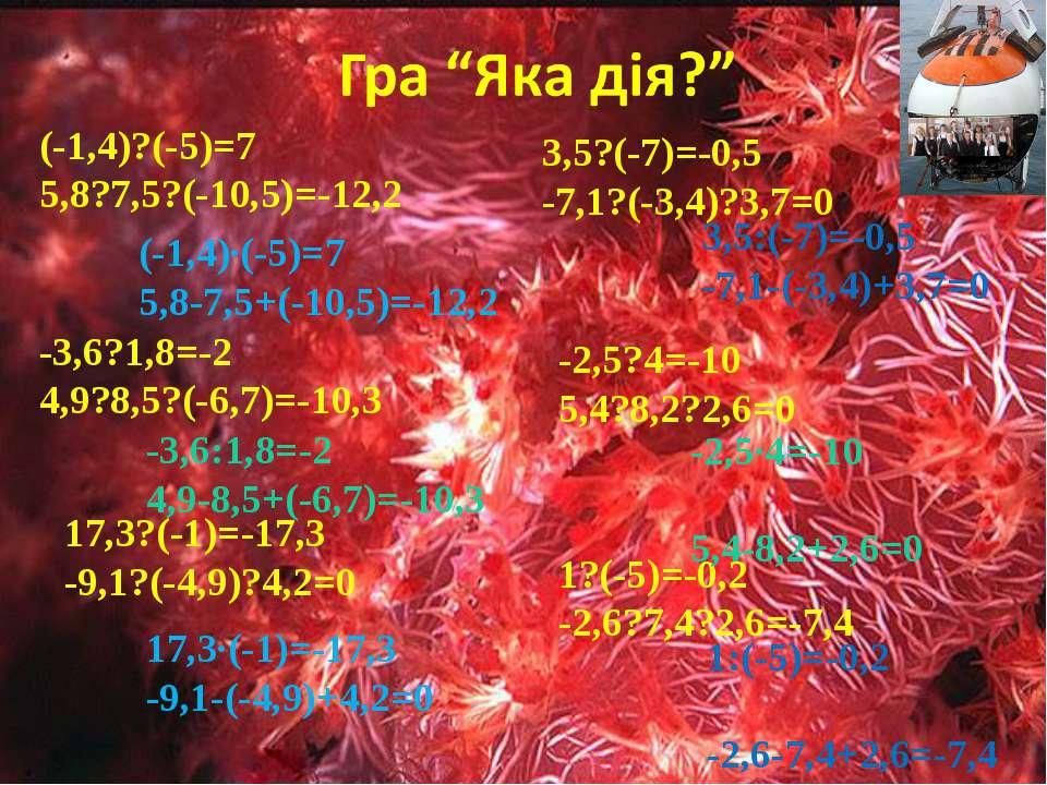 (-1,4)?(-5)=7 5,8?7,5?(-10,5)=-12,2 -3,6?1,8=-2 4,9?8,5?(-6,7)=-10,3 17,3?(-1...