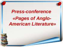 Press-conference «Pages of Anglo-American Literaturе»