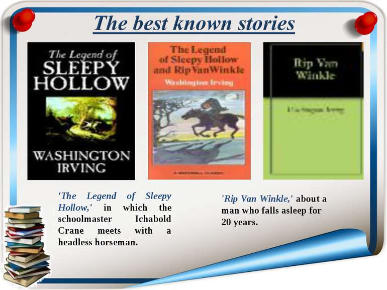 'The Legend of Sleepy Hollow,' in which the schoolmaster Ichabold Crane meets...