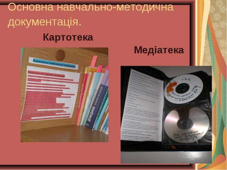 Основна навчально-методична документація. Картотека Медіатека
