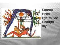 Богиня Неба – Нут та Бог Повітря – Шу