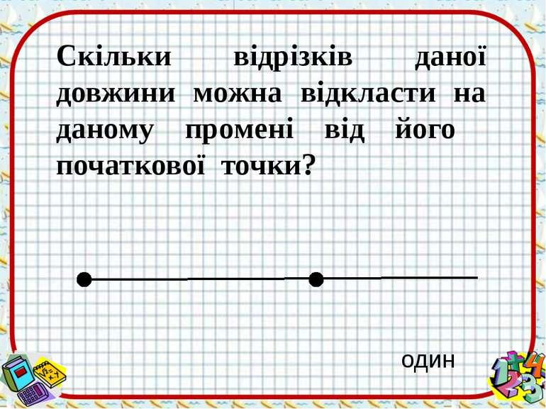 Скільки відрізків даної довжини можна відкласти на даному промені від його по...