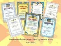 Результативність участі дітей у різноманітних конкурсах *