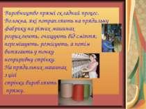 Виробництво пряжі складний процес. Волокна, які потрапляють на прядильну фабр...