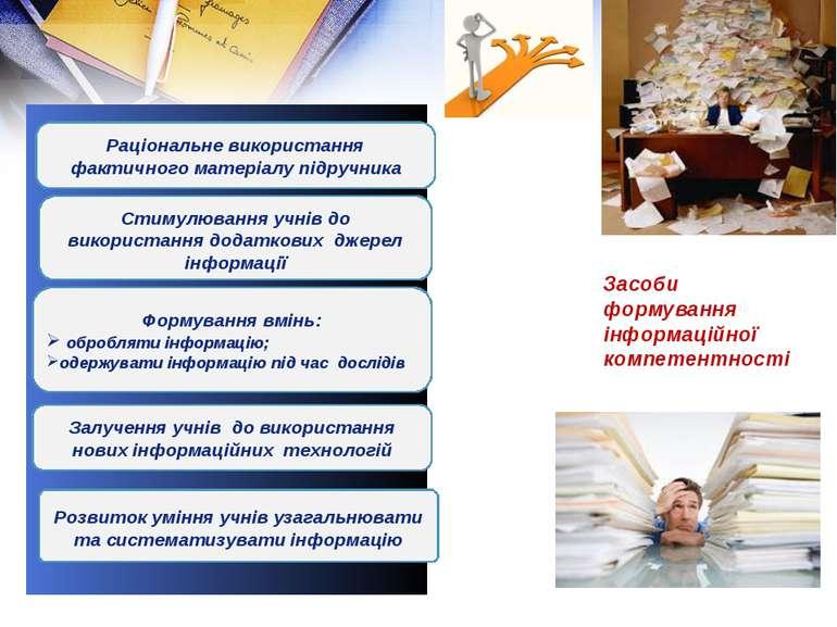 Раціональне використання фактичного матеріалу підручника Залучення учнів до в...