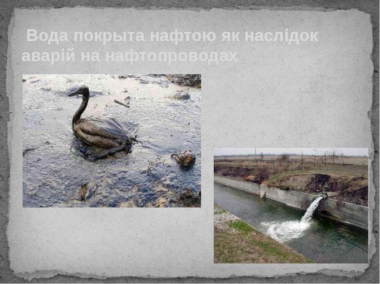 Вода покрыта нафтою як наслідок аварій на нафтопроводах