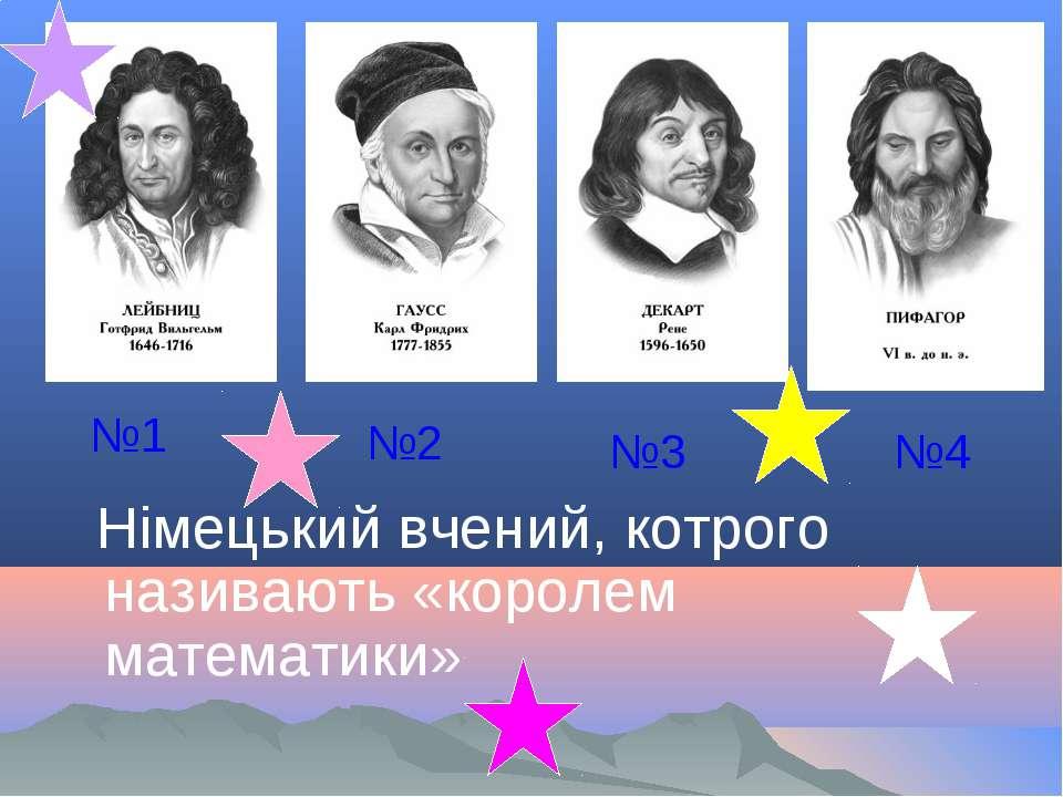 Німецький вчений, котрого називають «королем математики» №1 №2 №3 №4