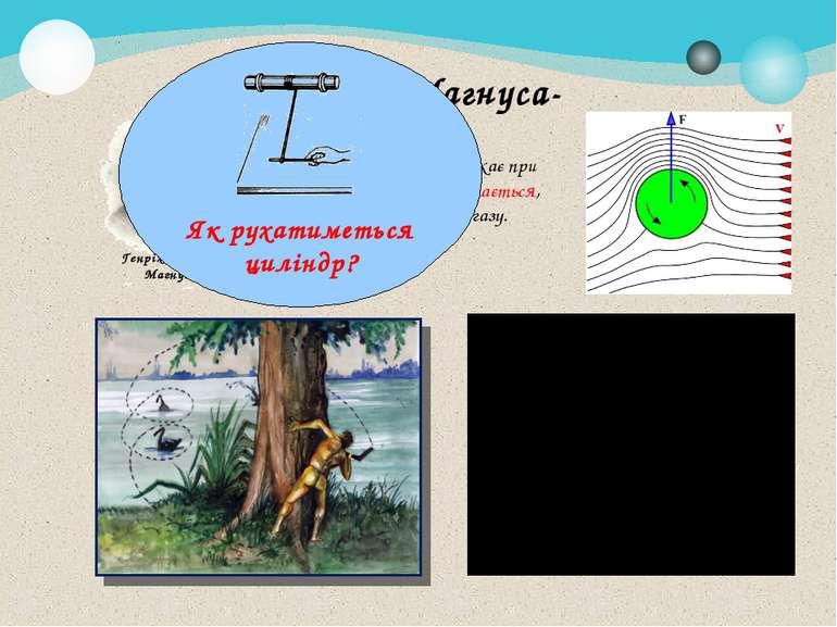 Ефект Магнуса- фізичне явище, яке виникає при обтіканні тіла, що обертається,...