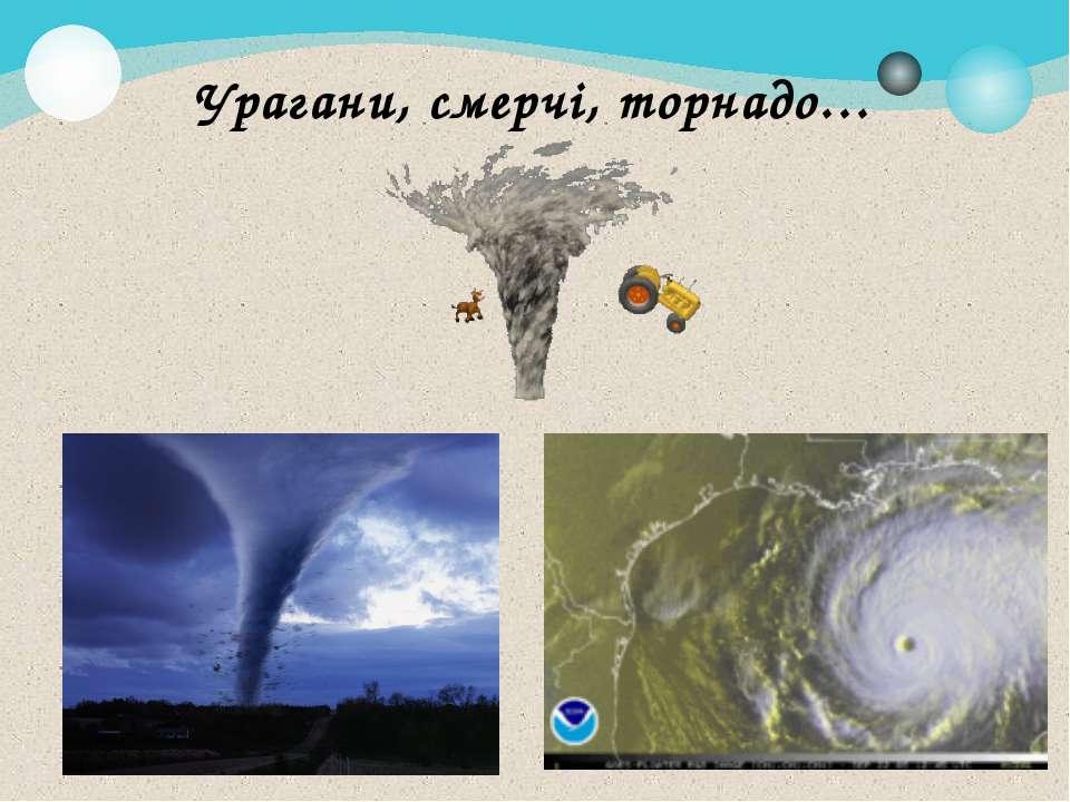 Урагани, смерчі, торнадо…
