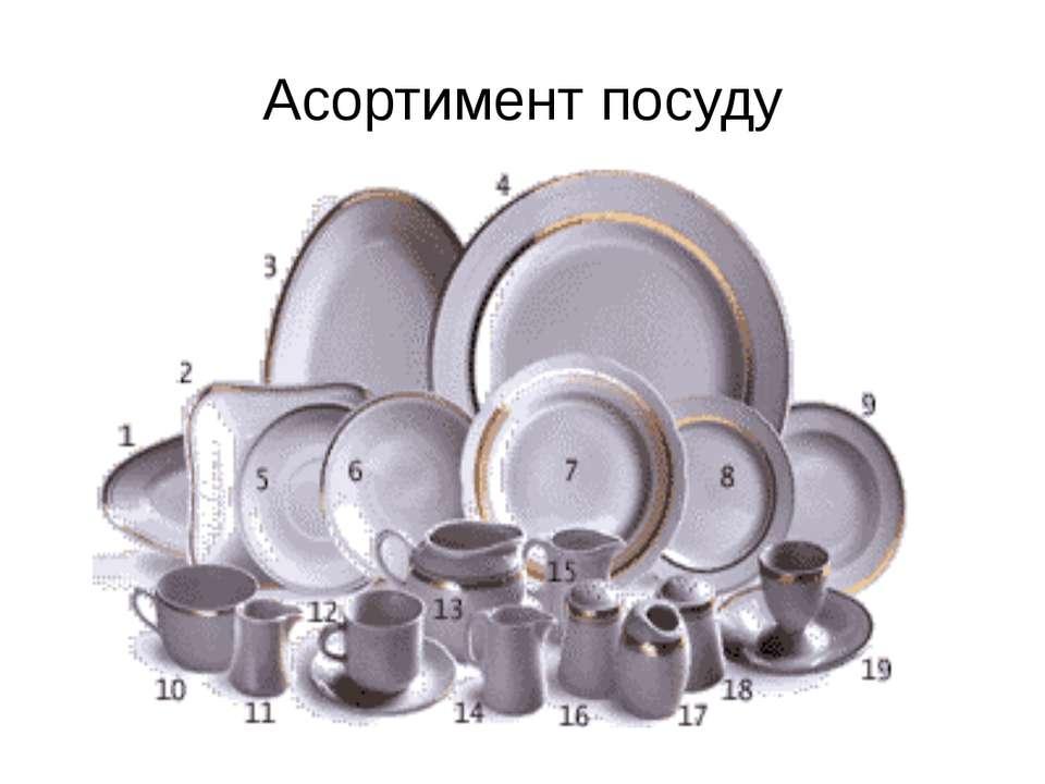 Асортимент посуду