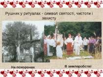 Рушник у ритуалах - символ святості, чистоти і захисту На похоронах В землеро...