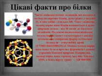 Цікаві факти про білки Число амінокислотних залишків, що входять в молекули о...