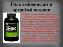 Роль амінокислот в організмі людини Найпростіше визначення амінокислот поляга...