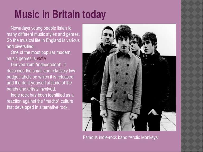 Nowadays young people listen to many different music styles and genres. So th...