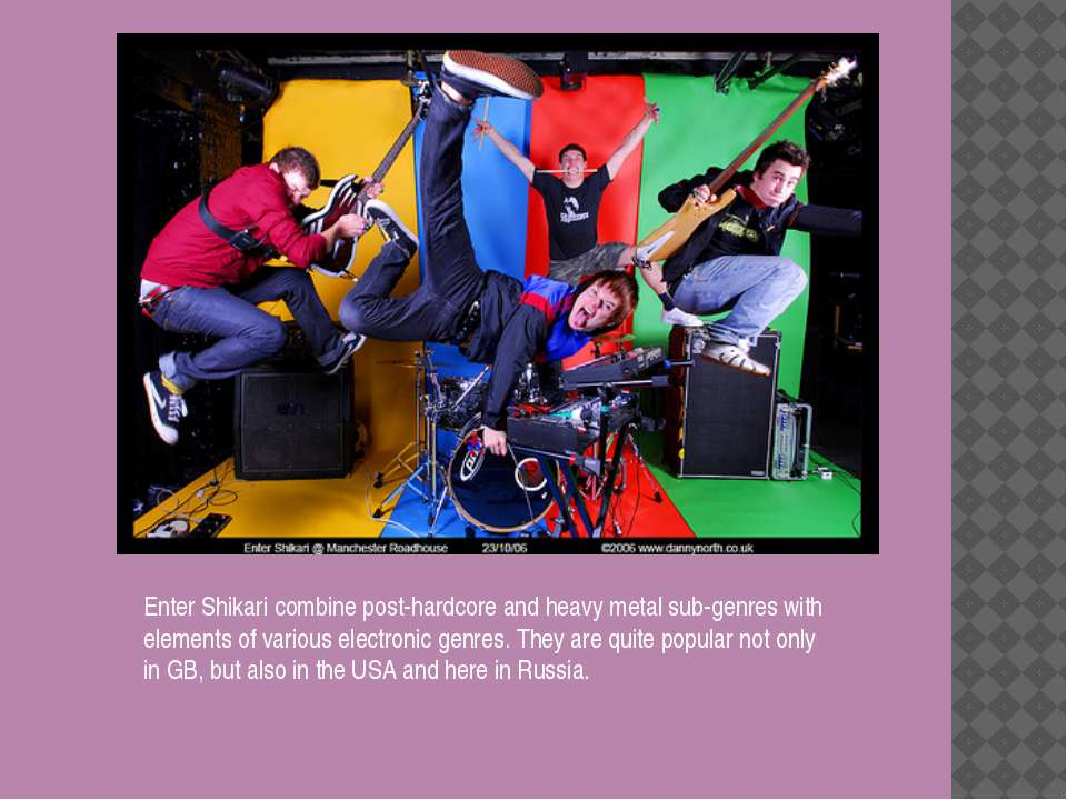 Enter Shikari combine post-hardcore and heavy metal sub-genres with elements ...