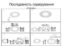 Послідовність сервірування столу