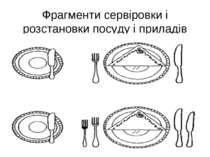 Фрагменти сервіровки і розстановки посуду і приладів