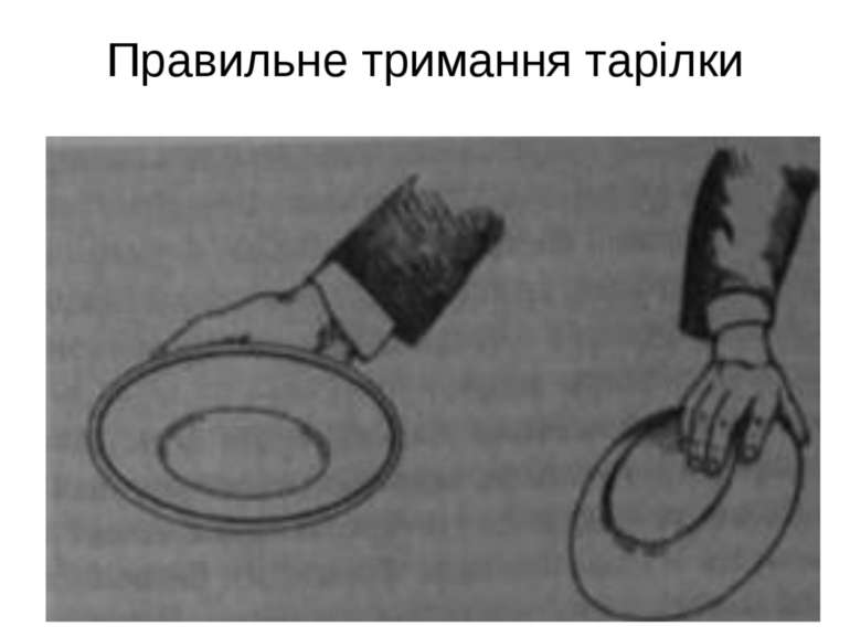 Правильне тримання тарілки