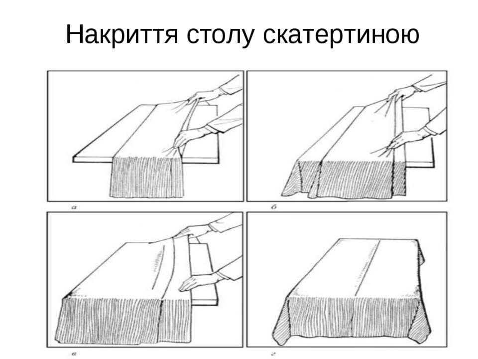 Накриття столу скатертиною