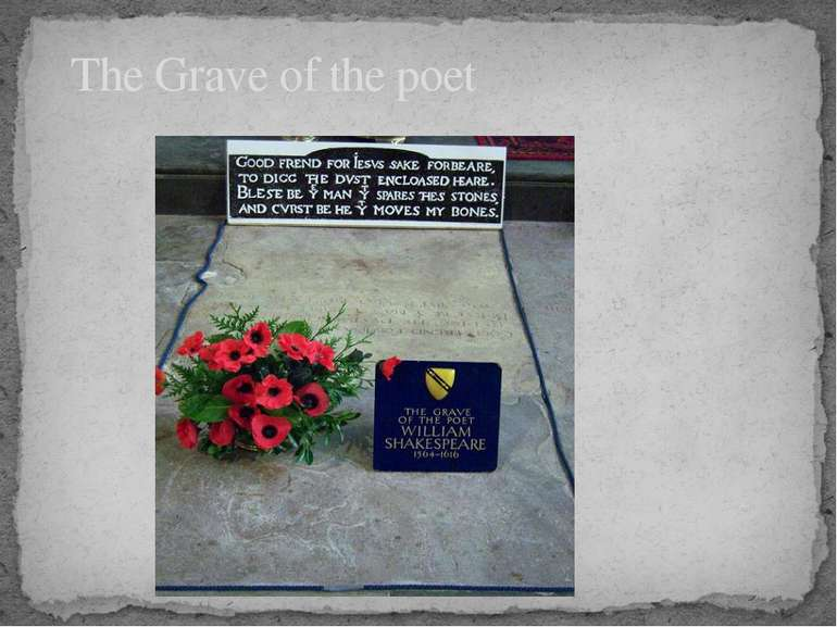 The Grave of the poet