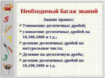 Правила Вопрос 2 Правило умножения десятичных дробей на 10, 100, 1000… Ответ ...