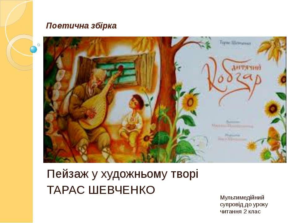 Поетична збірка Пейзаж у художньому творі ТАРАС ШЕВЧЕНКО Мультимедійний супро...