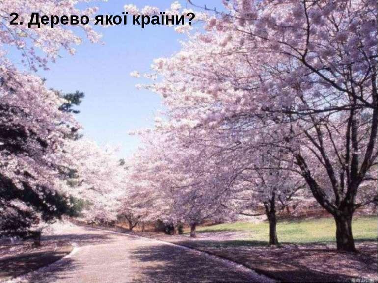 2. Дерево якої країни?