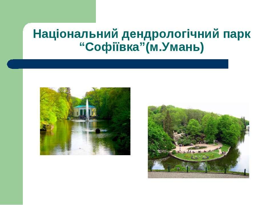 """Національний дендрологічний парк """"Софіївка""""(м.Умань)"""