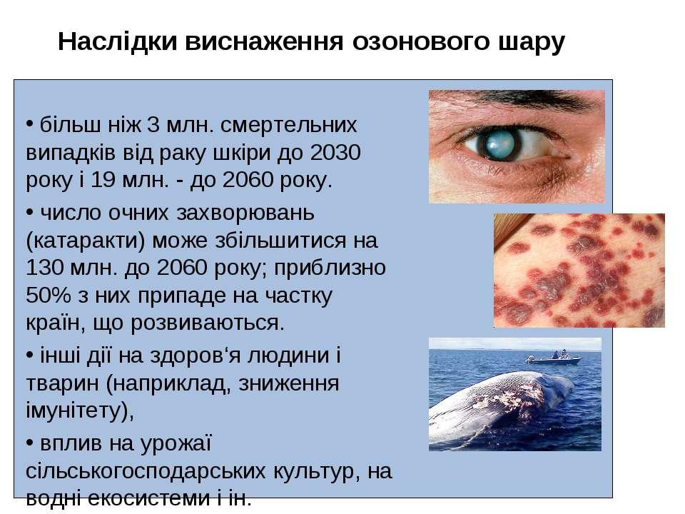 більш ніж 3 млн. смертельних випадків від раку шкіри до 2030 року і 19 млн. -...