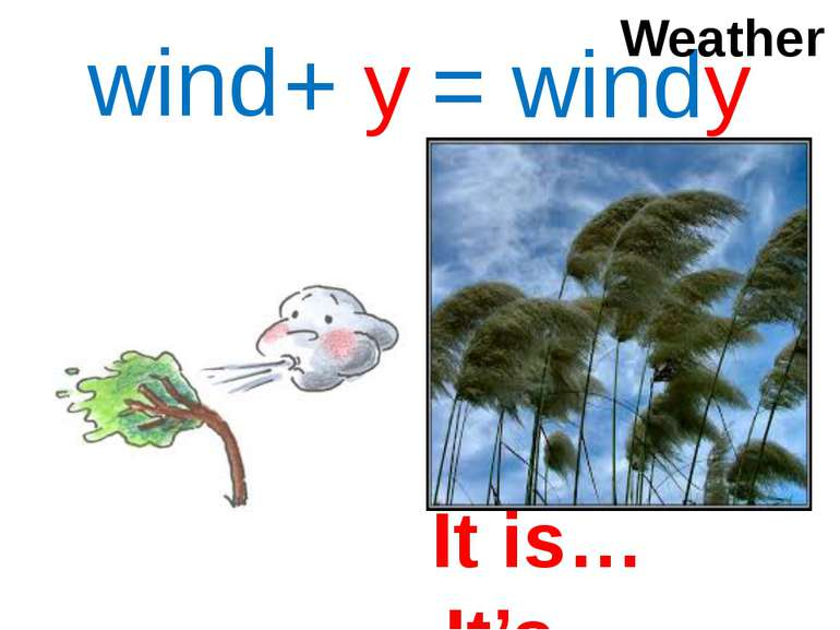 wind + y = windy Weather It is… It's…