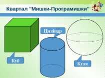 """www.teach-inf.at.ua Квартал """"Мишки-Програмишки"""" Куб Циліндр Куля"""
