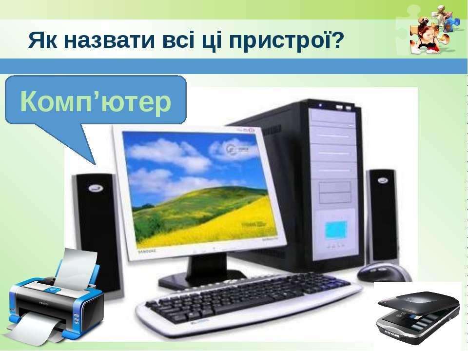 www.teach-inf.at.ua Як назвати всі ці пристрої? Комп'ютер