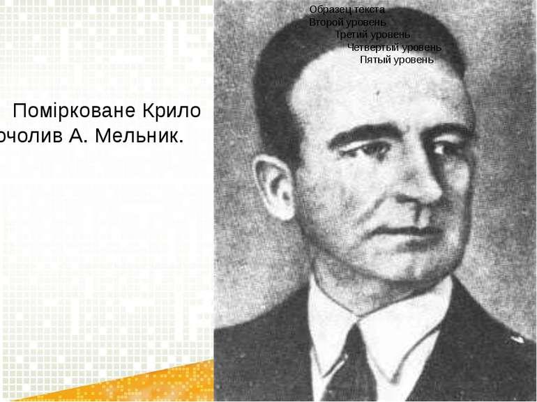 Помірковане Крило очолив А. Мельник.