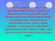 Село Білоцерківка, розташоване у мальовничому куточку України на берегах коли...