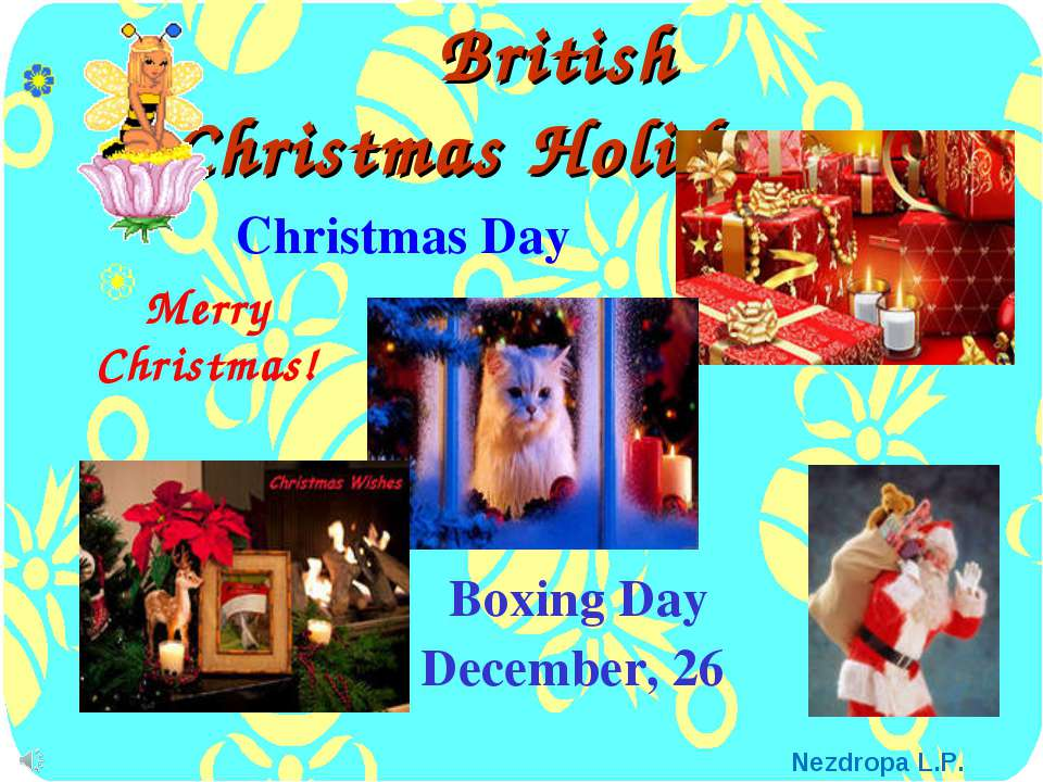 British Christmas Holidays Boxing Day December, 26 Merry Christmas! Christmas...