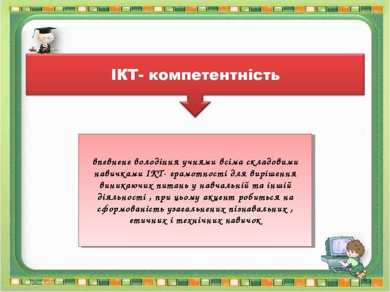 впевнене володіння учнями всіма складовими навичками ІКТ- грамотності для вир...