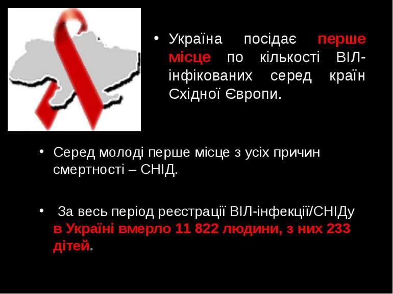 Україна посідає перше місце по кількості ВІЛ-інфікованих серед країн Східної ...