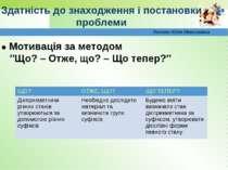 Лоскот Юлія Миколаївна ● Мотивація за методом ″Що? – Отже, що? – Що тепер?″ З...