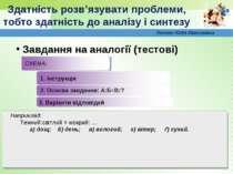 2. Основа завдання: А:Б=В:? www.themegallery.com Завдання на аналогії (тестов...