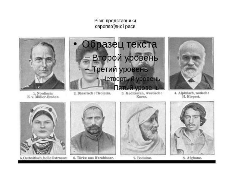 Різні представники європеоїдної раси
