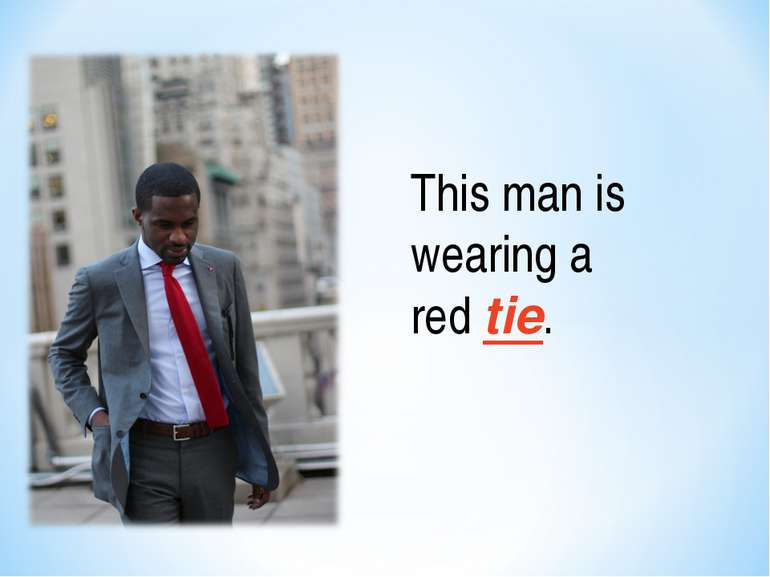 This man is wearing a red tie.